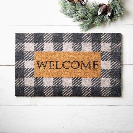 97621_KSP_Christmascoir_'Farmhouse_Welcome'_Coir_Doormat__Black_White