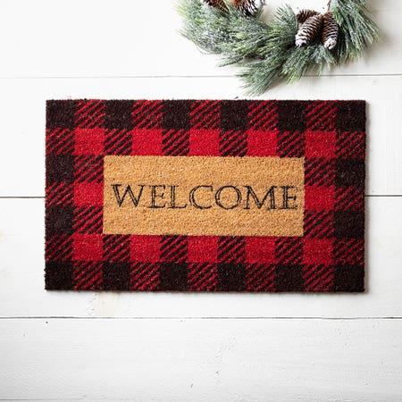 97622_KSP_Christmascoir_'Farmhouse_Welcome'_Coir_Doormat__Red_Black