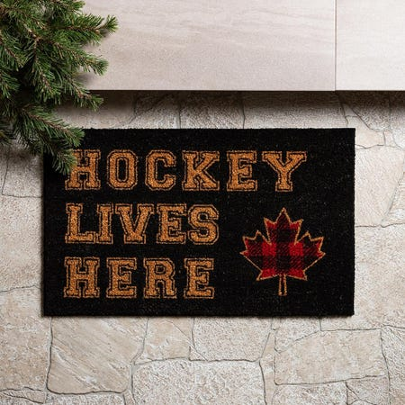 97623_KSP_Christmascoir_'Hockey_Lives_Here'_Coir_Doormat__Red