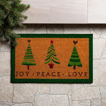 97627_KSP_Christmascoir_'Peace_Joy_Love'_Coir_Doormat__Multi_Colour