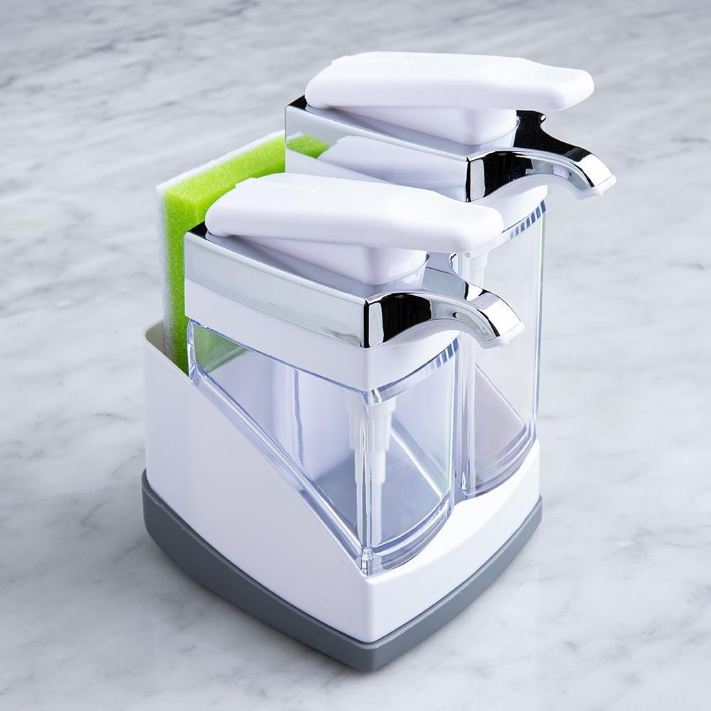 97663_Casabella_Sink_Sider_Duo_Soap_Dispenser_with_Sponge__White_Chrome