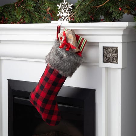 97683_KSP_Christmas_Buffalo_Check_Stocking_with_Fur_Cuff__Red