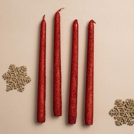 97740_KSP_Christmas_Glitter_Tapered_Candle___Set_of_4__Red