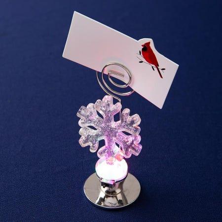 97812_KSP_Christmas_Glass_'Snowflake'_LED_Namecard_Holder