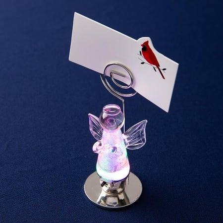 97813_KSP_Christmas_Glass_'Angel'_LED_Namecard_Holder