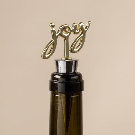 97827_KSP_Christmas_Quote_'Joy'_Metal_Bottle_Stopper__Gold