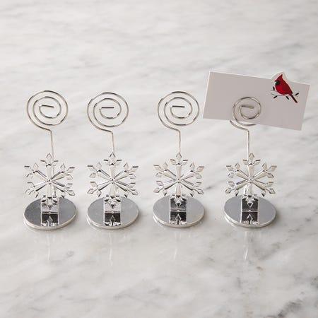 97832_KSP_Christmas_'Snowflake'_Namecard_Holder___Set_of_4__Silver
