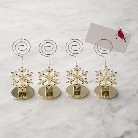 97833_KSP_Christmas_'Snowflake'_Namecard_Holder___Set_of_4__Gold