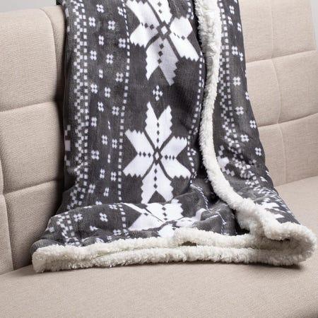 97855_KSP_Sherpa_'Nordic'_Fleece_Throw__Grey