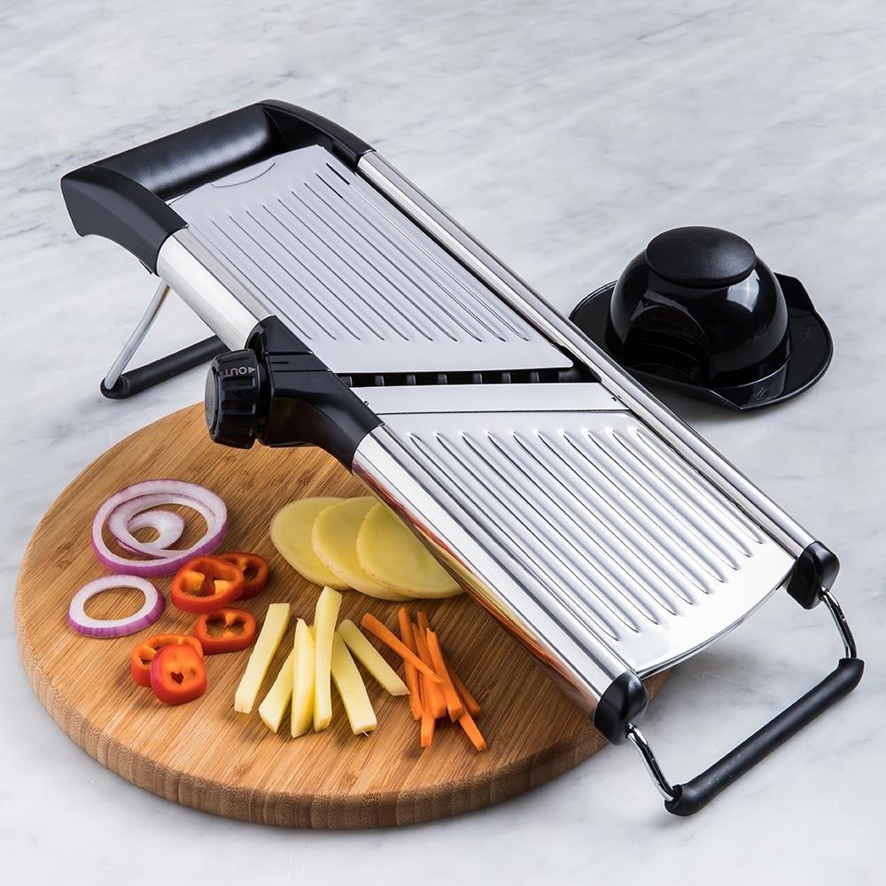 KSP Express 'All-In-1' Mandoline Slicer (Black/Stainless Steel) | Kitchen  Stuff Plus