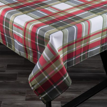 98045_Texstyles_Printed_'Carro_Plaid'_Polyester_Tablecloth__Cream