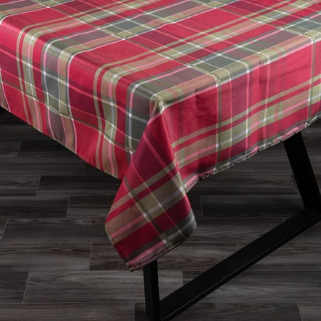 98046_Texstyles_Printed_'Carro_Plaid'_Polyester_Tablecloth__78__Red