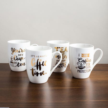 98097_KSP_Graphic_'Coffee___Tea'_Mug___Set_of_4__White_Gold