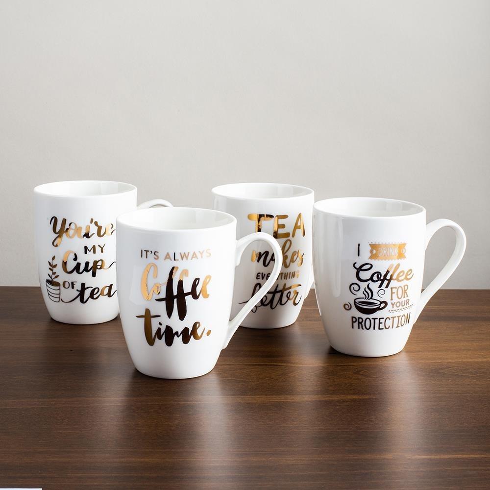 98097_KSP_Graphic_'Coffee___Tea'_Mug___Set_of_4__White_Gold
