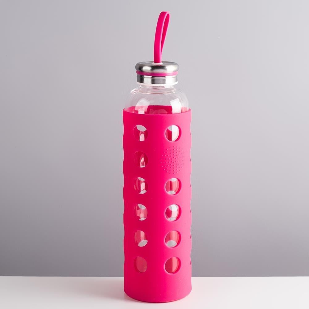 98100_KSP_Grip_Glass_Water_Bottle_with_Silicone__Pink