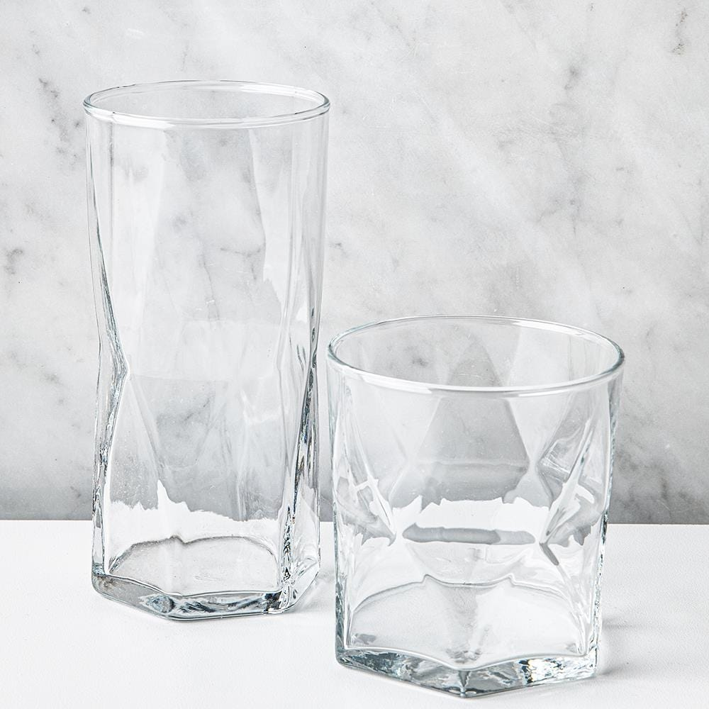 98174_Libbey_Rhombus_Drinking_Glass_Combo___Set_of_16__Clear