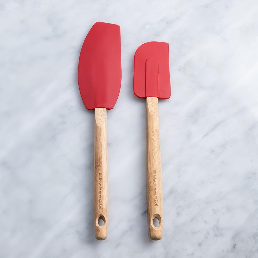 98264_KitchenAid_Classic_Silicone_Spatula_with_Bamboo___Set_of_2__Red