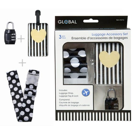 98352_Global_Travel_'Polka_Dot'_Luggage_Accessory_3_Pc_Set