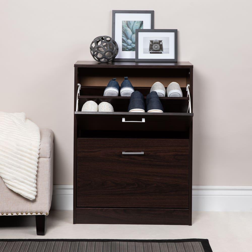 KSP Toby Shoe Cabinet 2-Drawer (Mocha)