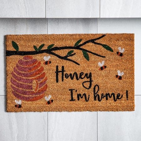 98460_KSP_Casual_'Honey_I'M_Home'_Coir_Doormat__Natural