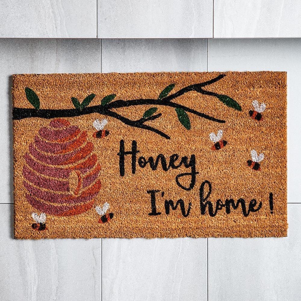 98460_KSP_Casual_'Honey_I'M_Home'_Coir_Doormat__Natural
