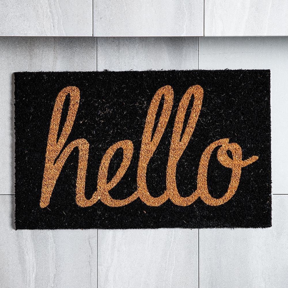98461_KSP_Casual_'Hello'_Coir_Doormat__Black