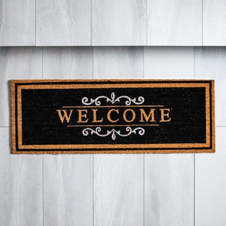 98481_KSP_Casual_'Welcome'_Coir_Doormat__Black