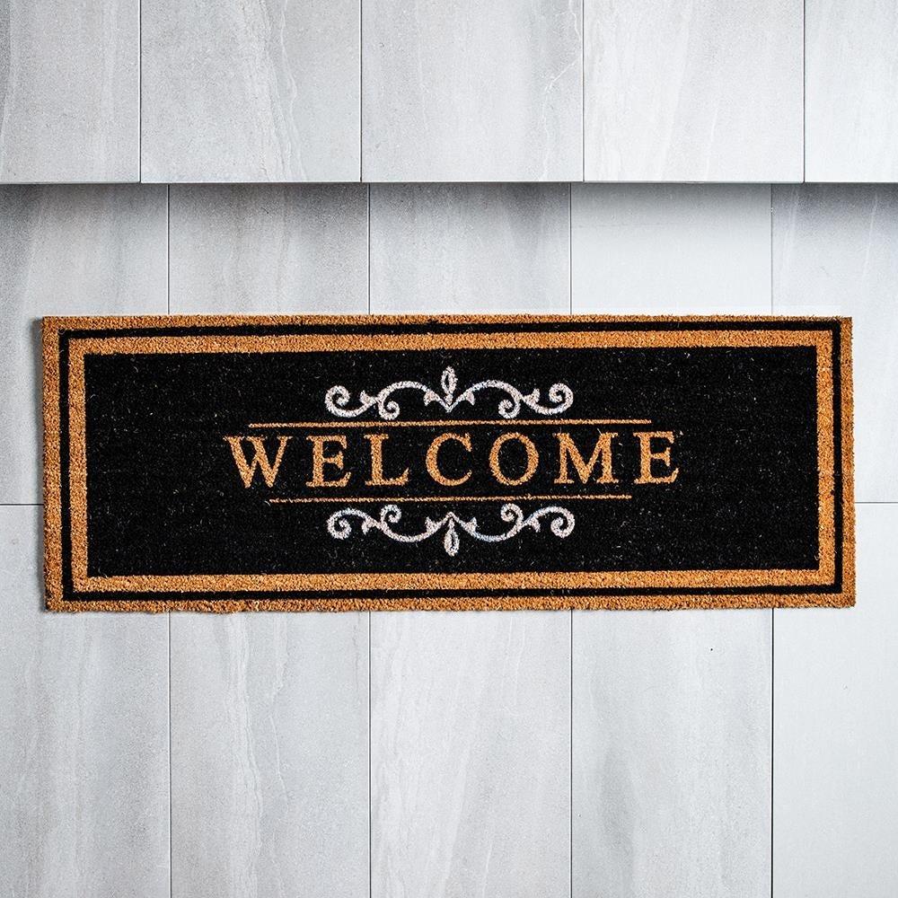 98481_KSP_Casual_'Welcome'_Coir_Doormat__Black