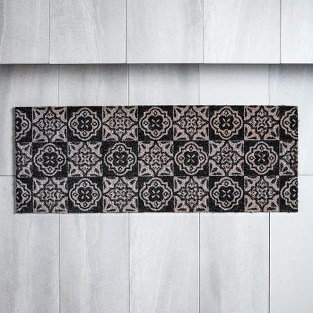 98482_KSP_Casual_'Spanish_Tile'_Coir_Doormat___Large__Grey_Black