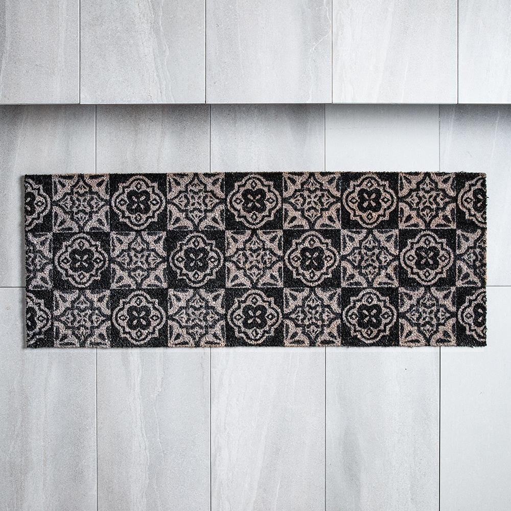 98482_KSP_Casual_'Spanish_Tile'_Coir_Doormat___Large__Grey_Black