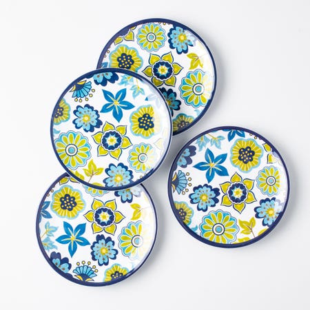 98540_KSP_Madrid_Melamine_Tidbit_Plate___Set_of_4__Blue_Green