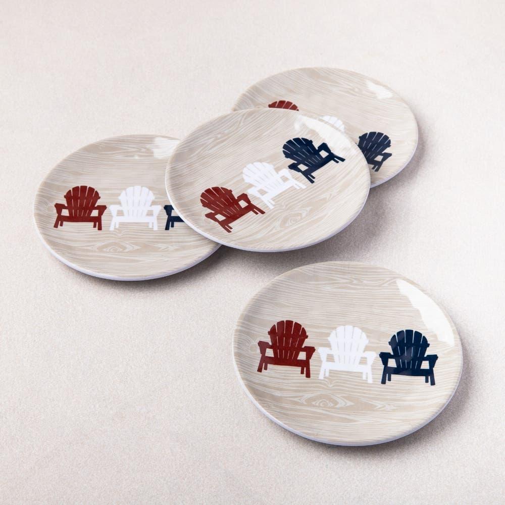 KSP Fun In The Sun 'Adirondack' Melamine Tidbit Plate - Set of 4
