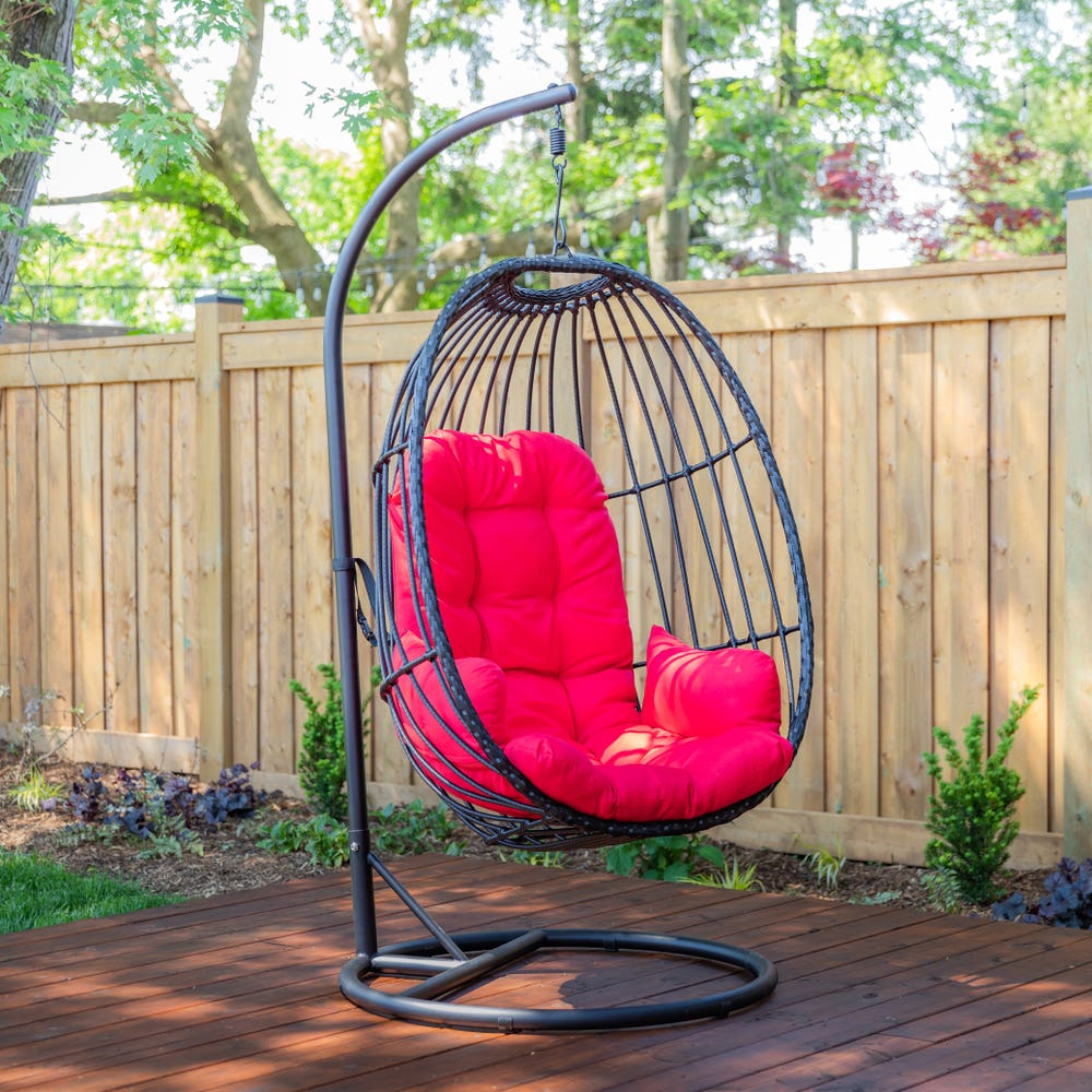 KSP Bali Summer Hanging Chair (Black/Red)
