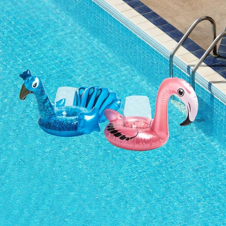 98689_Pool_Party_Inflatable_Peacock_Flamingo_Beverage_Float