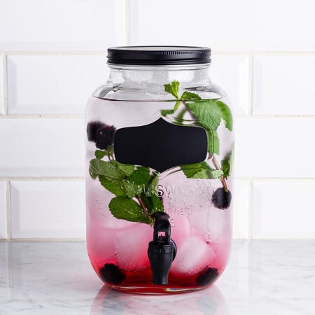 98738_KSP_Oldtyme_'Chalkboard'_Glass_Beverage_Dispenser__Clear_Black
