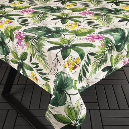 98893_Texstyles_Printed_'Bali'_Polyester_Tablecloth___Small__Green