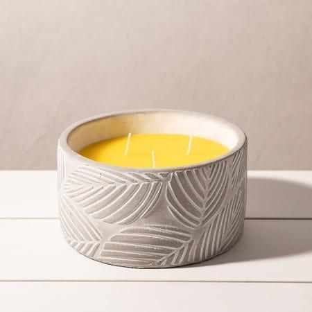 98904_KSP_Gardina_'Leaves'_Citronella_Candle_Cement_Pot