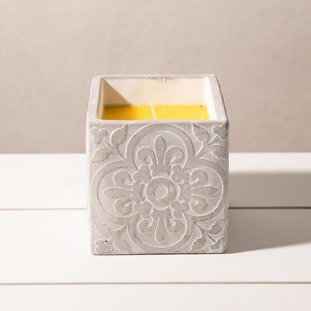 98906_KSP_Gardina_'Spanish_Tile'_Citronella_Candle_Cement_Pot