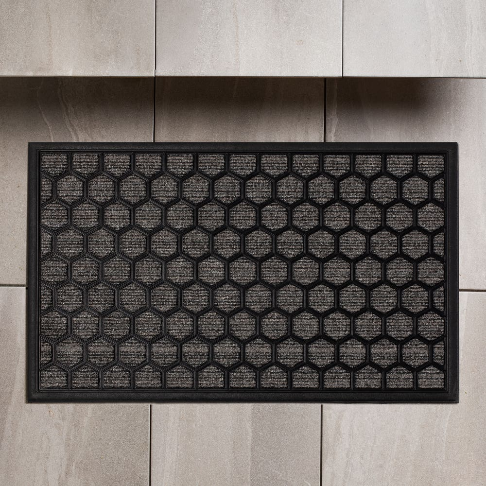 KSP Tufted 'Ogee' Rubber Backed Doormat (Grey)