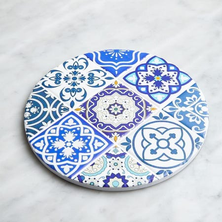 98915_KSP_Tessera_'Spanish_Tile'_Ceramic_Trivet__Blue