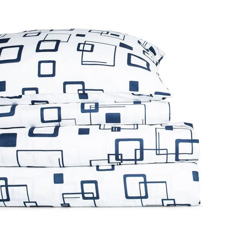 98961_Hotel___Home_Ultra_Soft_'Patterned'_100__Microfibre_Sheet__Double