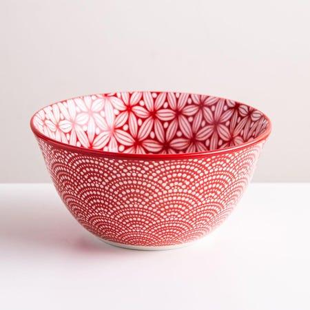 98971_KSP_Oishi_'Sakura'_Stoneware_Bowl___Small__Red