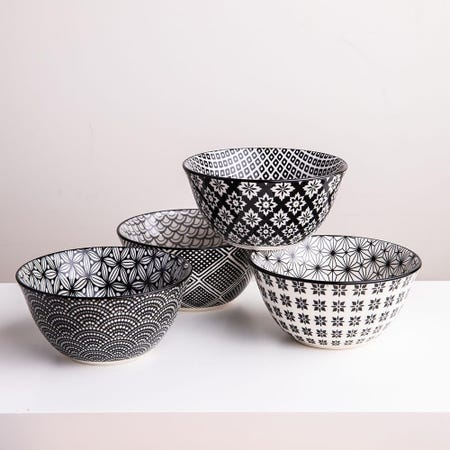 98986_KSP_Oishi_'Assorted'_Stoneware_Bowl___Set_of_4__Black