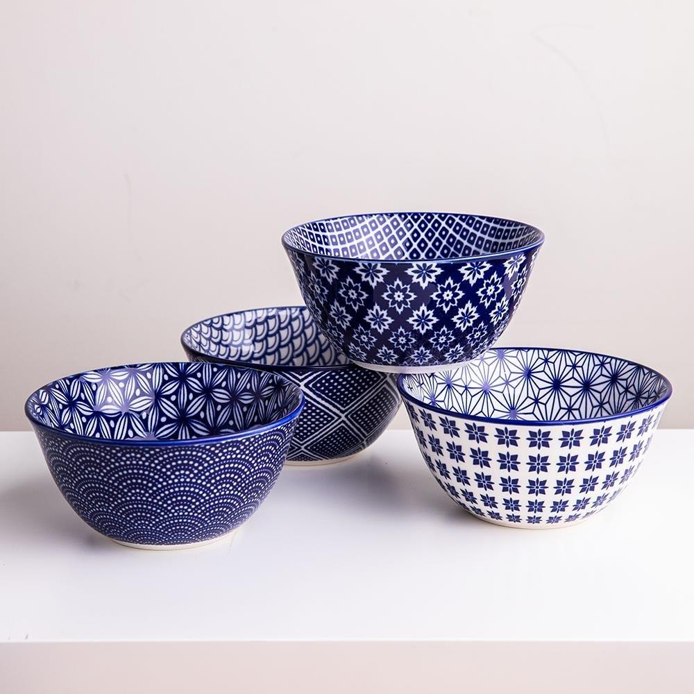98988_KSP_Oishi_'Assorted'_Stoneware_Bowl___Set_of_4__Navy