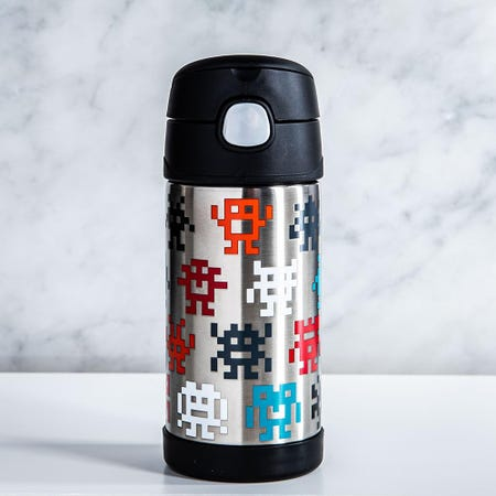99009_Thermos_Double_Wall_'Pixel_Gaming_Monsters'_Insulated_Sport_Bottle