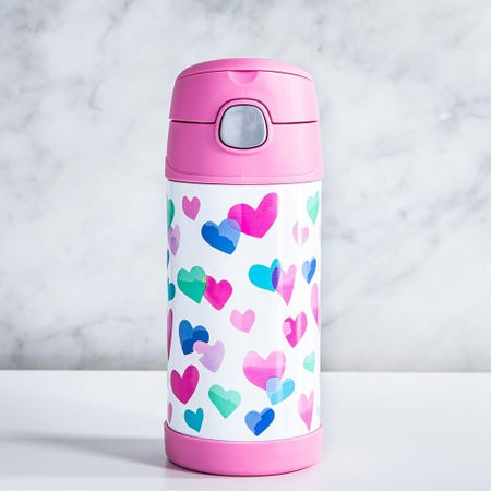 99010_Thermos_Double_Wall_'Watercolor_Hearts'_Insulated_Sport_Bottle