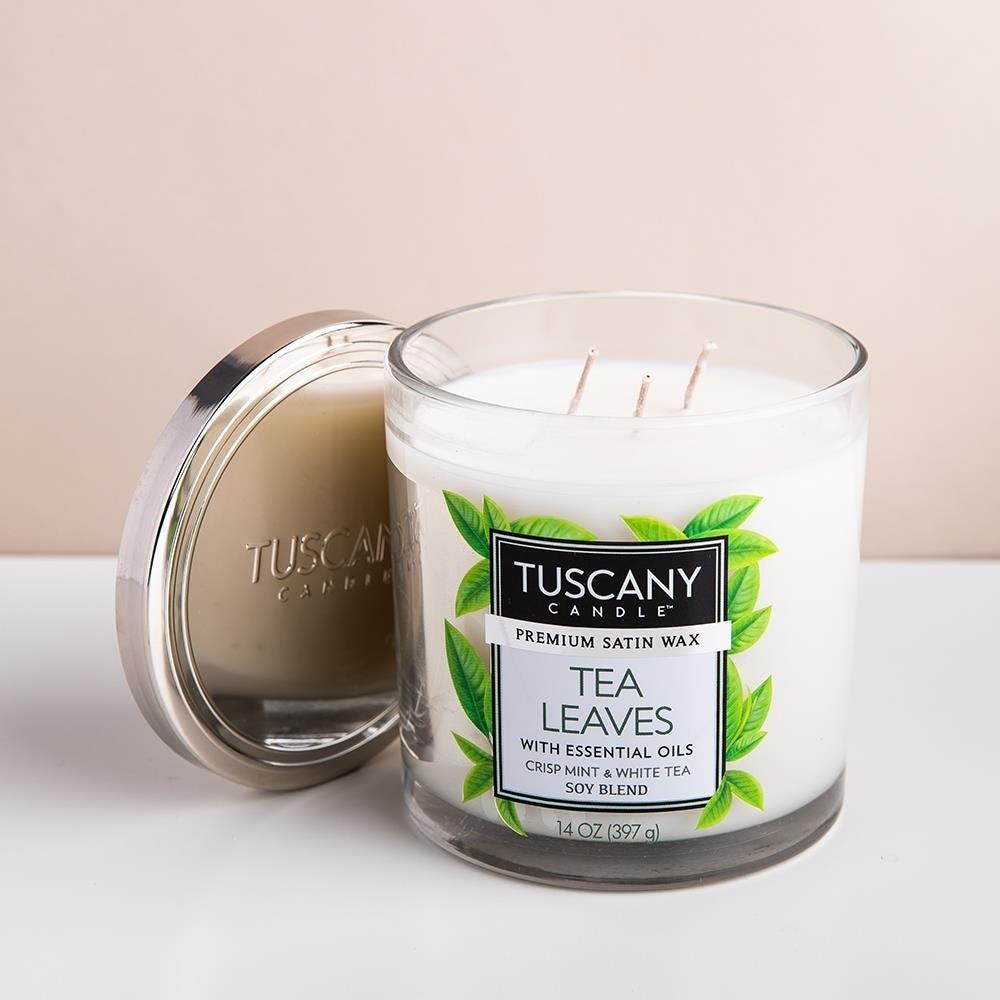 99013_Empire_Tuscany_'Tea_Leaves'_3_Wick_Glass_Jar_Candle