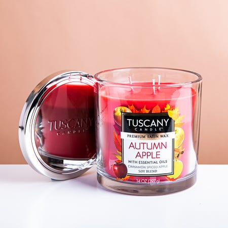 99019_Empire_Tuscany_'Autumn_Apple'_3_Wick_Glass_Jar_Candle