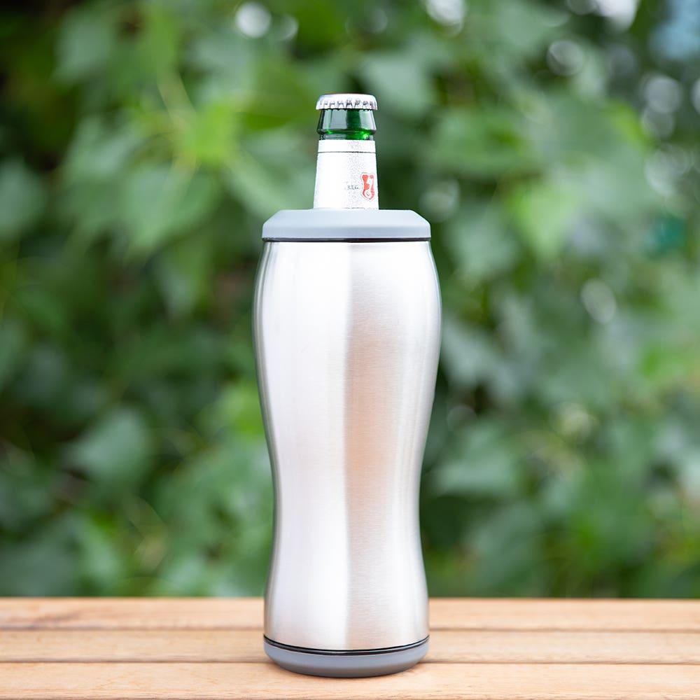 KSP Chiller Double Wall Bottle Cooler (Steel/Black)