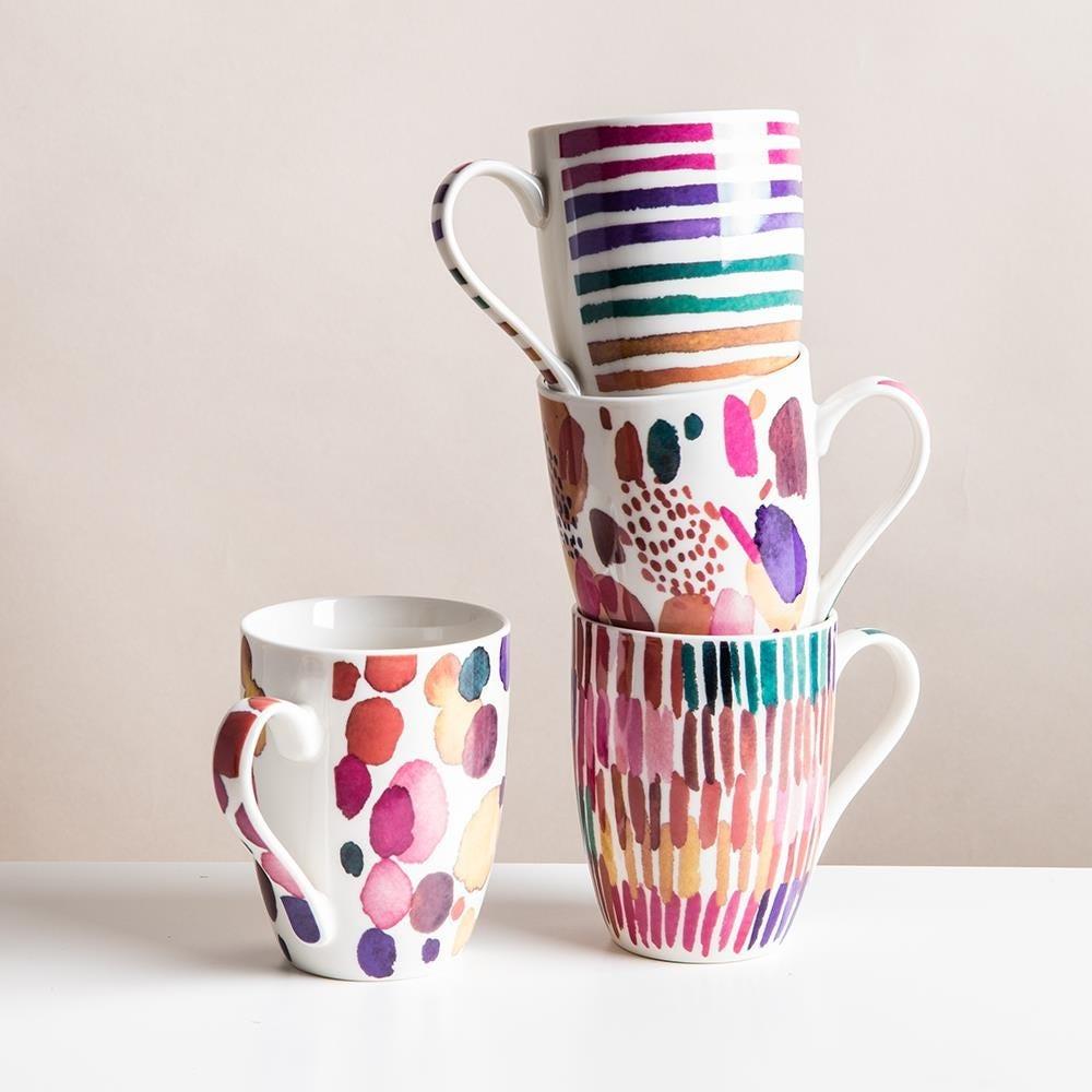 99036_KSP_Graphic_'Hue'_Mug___Set_of_4__Multi_Colour